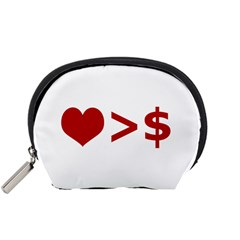 Love Is More Than Money Accessory Pouch (small)
