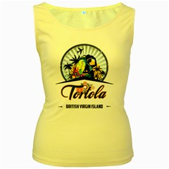 Tortola Women s Tank Top (yellow)