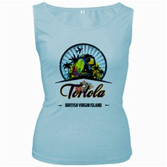 Tortola Women s Tank Top (Baby Blue)