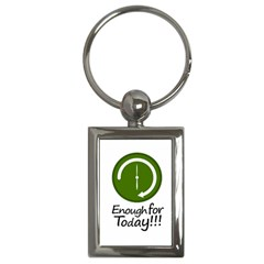 Work Schedule Concept Illustration Key Chain (Rectangle)