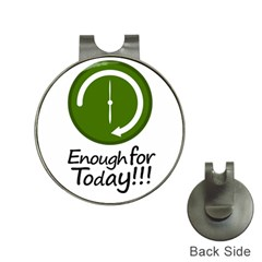 Work Schedule Concept Illustration Hat Clip With Golf Ball Marker
