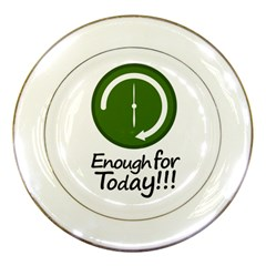 Work Schedule Concept Illustration Porcelain Display Plate