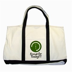 Work Schedule Concept Illustration Two Toned Tote Bag