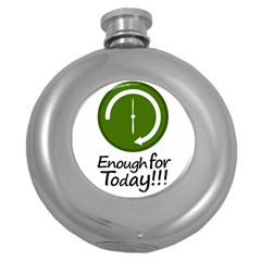Work Schedule Concept Illustration Hip Flask (Round)