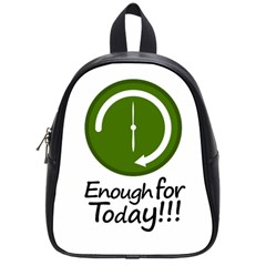 Work Schedule Concept Illustration School Bag (small)