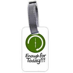 Work Schedule Concept Illustration Luggage Tag (Two Sides)