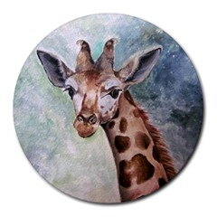 Giraffe 8  Mouse Pad (round)