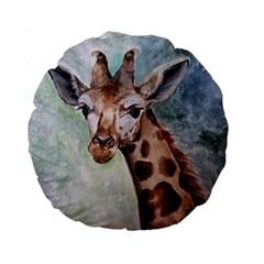 Giraffe 15  Premium Round Cushion
