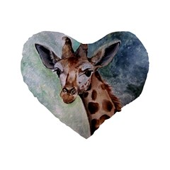 Giraffe 16  Premium Heart Shape Cushion