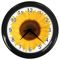 Sunflower Wall Clock (black)