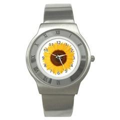 Sunflower Stainless Steel Watch (Slim)
