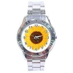 Sunflower Stainless Steel Watch