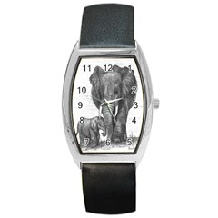 Elephant Tonneau Leather Watch
