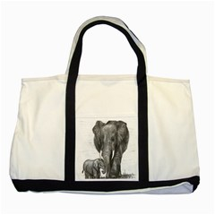 Elephant Two Toned Tote Bag
