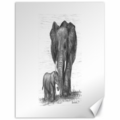 Elephant Canvas 18  x 24  (Unframed)