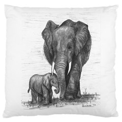 Elephant Large Cushion Case (two Sided)