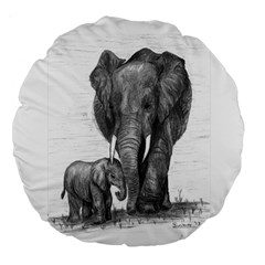Elephant 18  Premium Round Cushion