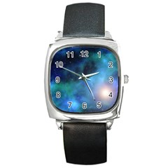 Amazing Universe Square Leather Watch