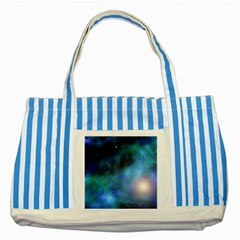 Amazing Universe Blue Striped Tote Bag
