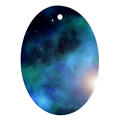Amazing Universe Oval Ornament (Two Sides)