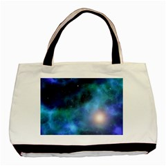 Amazing Universe Twin Sided Black Tote Bag