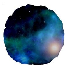 Amazing Universe 18  Premium Round Cushion