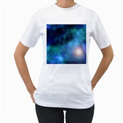 Amazing Universe Women s T-Shirt (White)