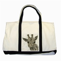 Giraffe Two Toned Tote Bag
