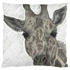 Giraffe Large Cushion Case (Single Sided)