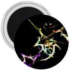 Futuristic Abstract Dance Shapes Artwork 3  Button Magnet