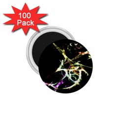 Futuristic Abstract Dance Shapes Artwork 1.75  Button Magnet (100 pack)