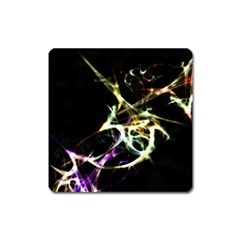 Futuristic Abstract Dance Shapes Artwork Magnet (Square)