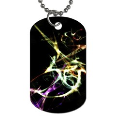 Futuristic Abstract Dance Shapes Artwork Dog Tag (two Sided)