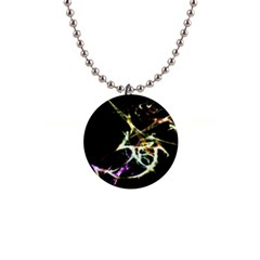 Futuristic Abstract Dance Shapes Artwork Button Necklace