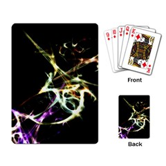 Futuristic Abstract Dance Shapes Artwork Playing Cards Single Design