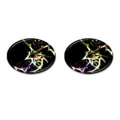 Futuristic Abstract Dance Shapes Artwork Cufflinks (oval)
