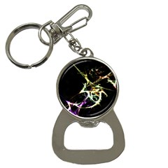 Futuristic Abstract Dance Shapes Artwork Bottle Opener Key Chain