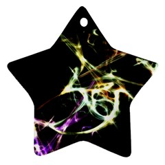 Futuristic Abstract Dance Shapes Artwork Star Ornament (Two Sides)