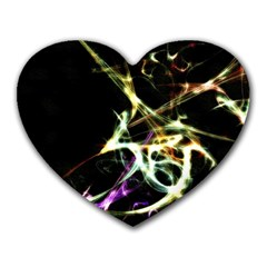 Futuristic Abstract Dance Shapes Artwork Mouse Pad (heart)