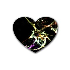 Futuristic Abstract Dance Shapes Artwork Drink Coasters 4 Pack (heart)