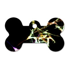 Futuristic Abstract Dance Shapes Artwork Dog Tag Bone (Two Sided)