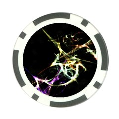 Futuristic Abstract Dance Shapes Artwork Poker Chip