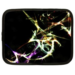 Futuristic Abstract Dance Shapes Artwork Netbook Sleeve (large)