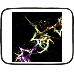 Futuristic Abstract Dance Shapes Artwork Mini Fleece Blanket (Two Sided)