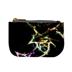 Futuristic Abstract Dance Shapes Artwork Coin Change Purse