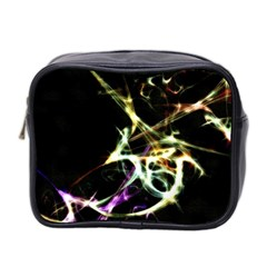 Futuristic Abstract Dance Shapes Artwork Mini Travel Toiletry Bag (two Sides)