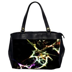 Futuristic Abstract Dance Shapes Artwork Oversize Office Handbag (two Sides)