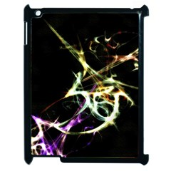 Futuristic Abstract Dance Shapes Artwork Apple Ipad 2 Case (black)