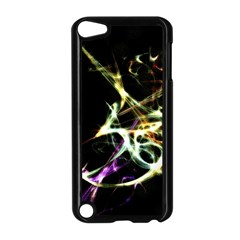 Futuristic Abstract Dance Shapes Artwork Apple iPod Touch 5 Case (Black)
