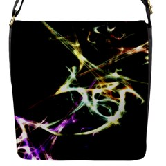 Futuristic Abstract Dance Shapes Artwork Flap Closure Messenger Bag (Small)